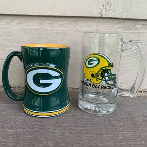 Green Bay packers stein & cup